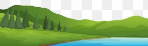 Mountain And Lake Ground Clipart - Mountain Clip Art PNG