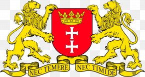 Coat Of Arms Lion - Free City Of Danzig Oliwa Herb Gdańska Coat Of Arms Byvåben PNG