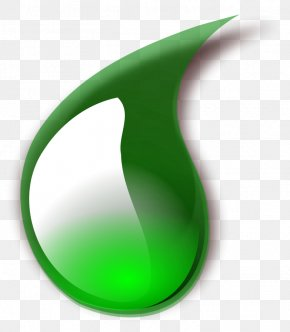 Blood Drop Clipart - Green Wallpaper PNG