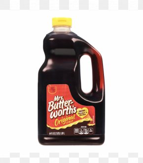 Syrup Bottle - Pancake Waffle Breakfast Mrs. Butterworth's Log Cabin Syrup PNG