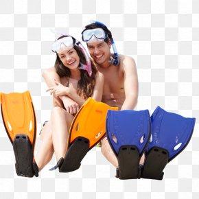 Movement Mermaid Swimming - Sandy Beach Couple On The Beach PNG