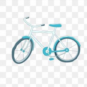 Cartoon Painted Bicycle - Bicycle Frame Bicycle Wheel Road Bicycle Cartoon PNG
