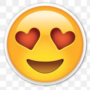 Love Hearts Eyes Emoji - Emoji Emoticon Smiley Clip Art PNG