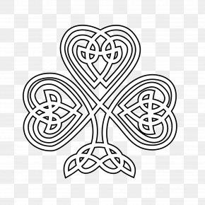 St Patricks Day Drawings - Shamrock Celtic Knot Coloring Book Celts Celtic Art PNG