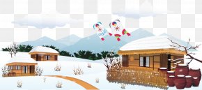 Vector Winter House - Snow Winter House PNG