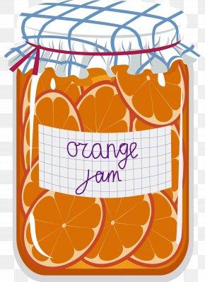 Cartoon Orange Jar - Marmalade Gelatin Dessert Fruit Preserves Canning PNG