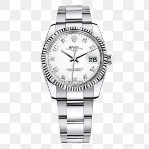 Rolex Watches Silver Watch Male Table - Rolex Datejust Watch Diamond Bezel PNG