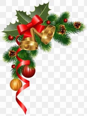 Christmas Corner Decoration Clipart Image - Christmas Decoration Christmas Ornament Christmas Tree Clip Art PNG