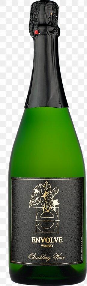 Wine Bottle Image - Champagne Sparkling Wine Chardonnay Bottle PNG
