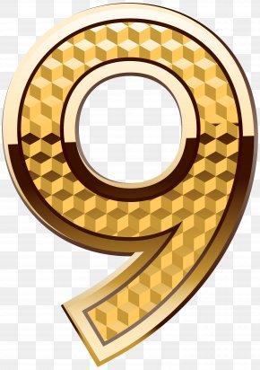 Gold Number Nine Clip Art Image - Icon Number Clip Art PNG