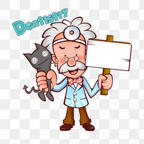 Cartoon Illustration Old Doctor - Physician Cartoon Illustration PNG