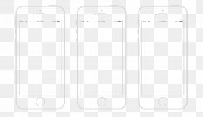 Apple 6 Phone Black And White Line Draft - Brand Black And White PNG