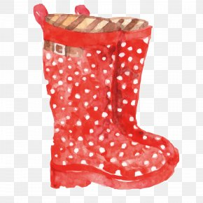 Fine Cotton Boots - Shoe Polka Dot Boot PNG
