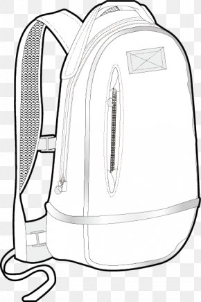 Vector Hand-drawn Black And White Backpack - Backpack Black And White PNG