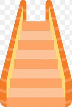 Orange Escalator - Escalator Orange Stairs Elevator PNG