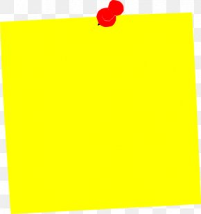 Yellow Square Cliparts - Post-it Note Paper Clip Art PNG