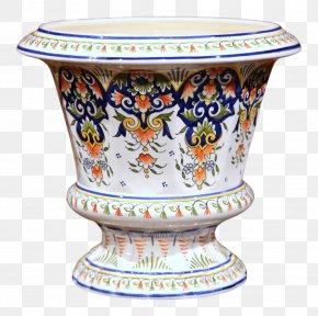 Hand-painted Flower Pot - Vase Jardiniere Flowerpot Table Porcelain PNG