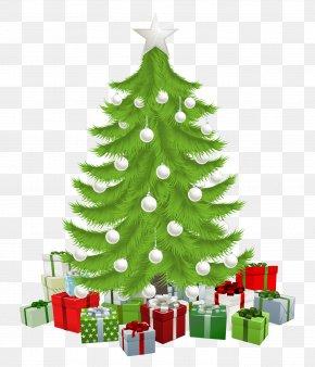 Christmas Tree - Santa Claus Christmas Tree Gift Clip Art PNG