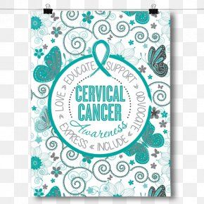 Cervical Cancer - Thyroid Cancer Childhood Cancer Brain Tumor Pattern PNG