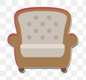 Club Chair Beige - Armchair Icon Chair Icon Household Icon PNG