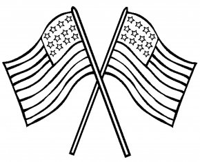 Flag Drawing Cliparts - Flag Of The United States Coloring Book Memorial Day Flag Day PNG