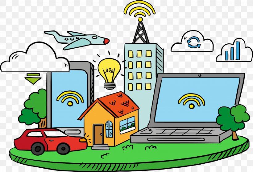 Internet Of Things Download Cloud Computing, PNG, 3426x2338px, Internet Of Things, Area, Artwork, Cloud Computing, Internet Download Free