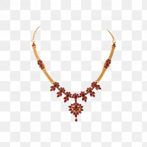 Necklace - Necklace Jewellery G. R. Thanga Maligai Ruby Gemstone PNG