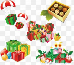 Gift Christmas Gift Cartoon Vector - Paper Christmas Gift Christmas Gift Greeting Card PNG