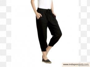 Jeans - Waist Jeans Leggings Pants Black M PNG