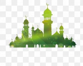 Mosque Silhouette - Eid Al-Fitr Eid Mubarak Eid Al-Adha Ramadan Mawlid PNG