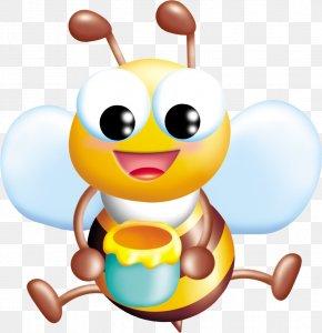Bee - Bee Cartoon Illustration PNG