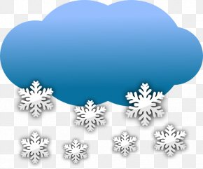 Snow Path Cliparts - Snowflake Cloud Rain And Snow Mixed Clip Art PNG