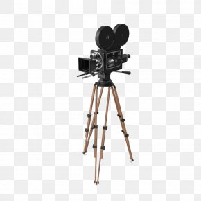 Vintage Camera And Tripod - Video Camera Tripod Photographic Film Photography PNG