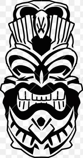 Vector Inkjet - Black And White Visual Arts Tiki Clip Art PNG
