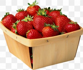 Strawberry - Strawberry Punnet Blueberry Fruit PNG