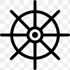 Wheel Of Dharma - Ship's Wheel Steering Wheel Boat Clip Art PNG