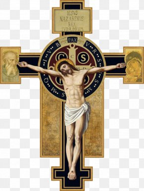 Crucifixion - Order Of Saint Benedict Rule Of Saint Benedict Crucifix Saint Benedict Medal Christian Cross PNG