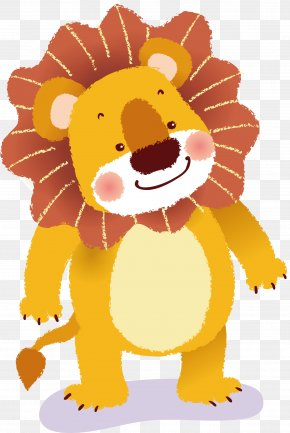 Cartoon Lion Vector - Lion Tiger Cartoon PNG