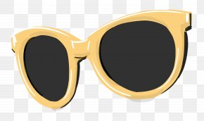 Hand Drawn Sunglasses - Sunglasses Goggles Yellow PNG