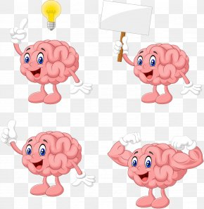 Brain Cartoon Image Design Image - Brain Cerebrum Euclidean Vector Illustration PNG