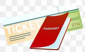 Ticket And Passport Clipart Image - Passport Stamp Clip Art PNG