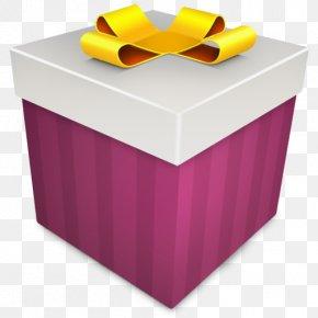 Christmas Gift Magenta - Box Gift Purple Yellow PNG