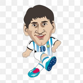 Vector Cartoon Image Of Messi - Lionel Messi 2014 FIFA World Cup FC Barcelona Argentina National Football Team PNG