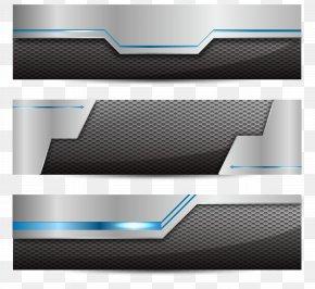 Vector Metallic Banner - Web Banner Euclidean Vector Technology Icon PNG