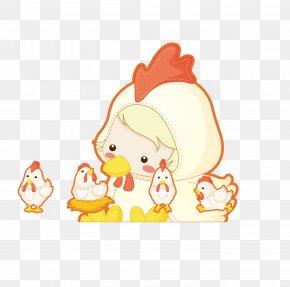 Chicken Baby - Chicken Cartoon Chinese Zodiac PNG
