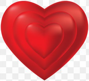 Heart Transparent PNG Clip Art - Red Heart Valentine's Day Design PNG
