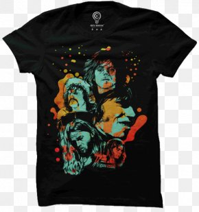 T-shirt - T-shirt Fashion Painting Crew Neck PNG