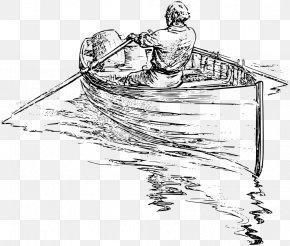 Fish Boat - Rowing Drawing Boat Clip Art PNG