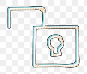 Rectangle Unlock Icon - Key Icon Safety Icon Security Icon PNG