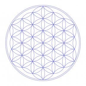 Tree Of Life Vector - Overlapping Circles Grid Sacred Geometry Tree Of Life Mandala Metatron PNG